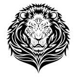 顶头狮子纹身花刺 免版税图库摄影