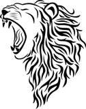 顶头狮子纹身花刺 免版税库存图片