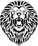 顶头狮子纹身花刺 图库摄影