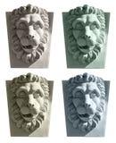 顶头狮子雕塑 免版税库存图片