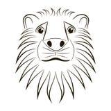 顶头狮子 库存照片