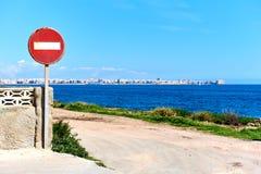 项没有路标 西班牙 免版税库存照片