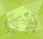 项目开发商队-参与hackathon - coworking的空间 库存照片
