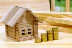 项目房子 一个新的家的建筑的信用 免版税库存照片