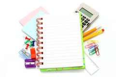 项目文教用品 免版税图库摄影