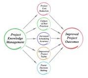 项目知识管理 库存例证