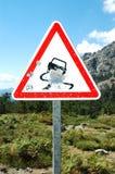 项目符号可西嘉岛钻孔路标 免版税库存照片