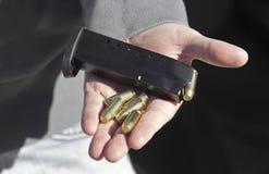 项目符号和弹药弹药筒 库存图片