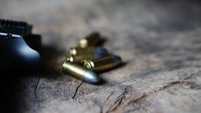 项目符号和枪 库存照片
