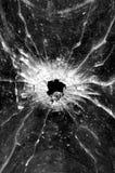 项目符号玻璃漏洞 库存图片