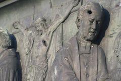 项目符号铜的浮雕漏洞 免版税库存照片