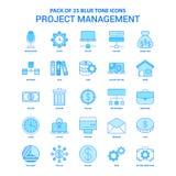 项目管理蓝色口气象组装- 25个象集合 皇族释放例证