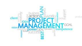 项目管理,生气蓬勃的印刷术 向量例证
