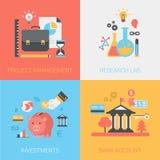 项目管理,研究实验室,投资,平的银行帐户 图库摄影