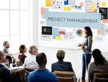 项目管理组织技巧概念 免版税库存照片