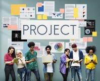 项目计划战略操作概念 图库摄影
