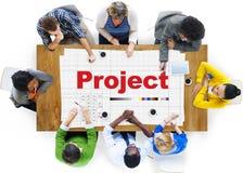 项目计划操作工作战略事业任务概念 免版税图库摄影