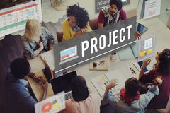 项目运作计划预言管理任务概念 库存照片