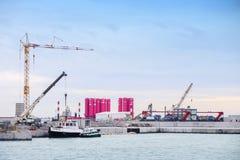 项目MOSE在威尼斯 免版税库存图片