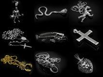 项链和垂饰照片编辑 免版税库存图片