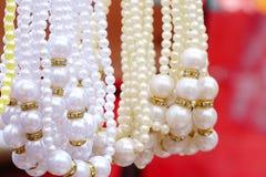 项链珍珠白色 库存图片