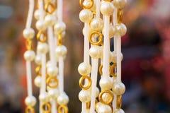 项链,在显示的工艺品在公平的工艺品期间 免版税图库摄影
