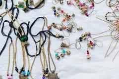 项链,在显示的工艺品在公平的工艺品期间 免版税库存照片