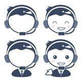 顾客中心操作人员-男性 库存例证