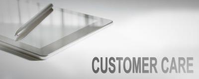 顾客关心企业概念数字技术 免版税库存图片