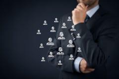 顾客关心或人力资源 免版税库存照片