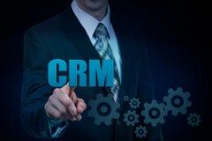 顾客关系管理选择客户关系管理的概念人 免版税库存图片