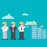 顾客和执行者看房子 免版税库存图片
