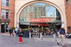 顾客在稻的市场悉尼新南威尔斯澳大利亚上 库存图片