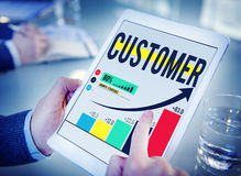 顾客客户消费者满意程度服务忠诚概念 库存照片