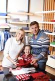 顾客家庭  免版税库存图片