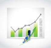 顾客忠诚企业图表标志概念 向量例证