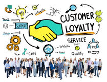 顾客忠诚服务支持关心信托业务概念 库存照片