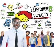 顾客忠诚服务支持关心信任偶然概念 免版税库存图片