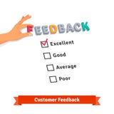 顾客服务反馈调查商标 库存图片
