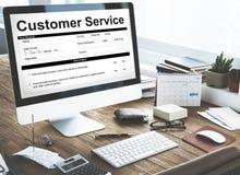 顾客服务工作特性申请表概念 免版税库存图片
