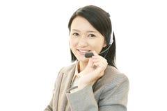 顾客服务操作员 免版税库存图片