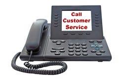 顾客服务VoIP电话 免版税库存照片