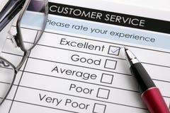 顾客满意服务调查 免版税图库摄影
