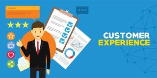 顾客经验和客户证明书 皇族释放例证