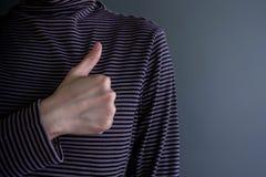 顾客经验概念 有赞许的愉快的客户 含义 免版税库存照片