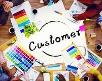 顾客采购员满意消费性劳务概念 免版税库存图片