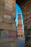 顾特卜塔在新德里,印度 库存照片