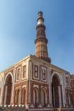 顾特卜塔,新德里,印度尖塔  免版税库存图片