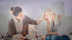 顾问慰问的沮丧的妇女的数字动画 影视素材