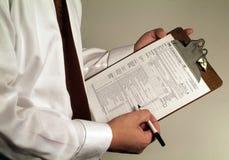 顾问财政规划 免版税库存图片